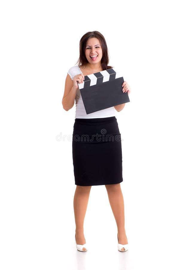 clapper mienia kobieta obrazy stock