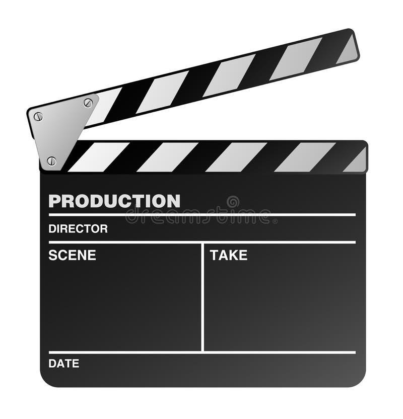 clapperboard制造商电影 库存例证