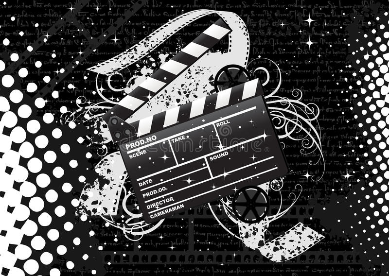 clapperboard电影 向量例证