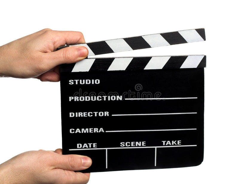 clapperboard电影 免版税库存图片