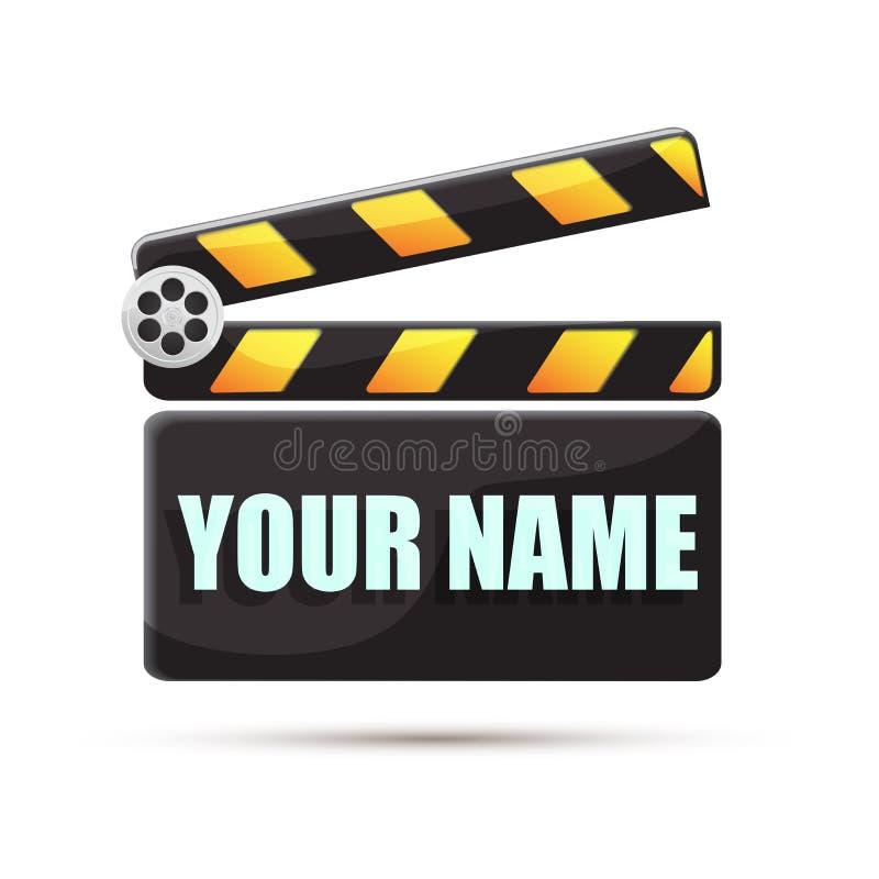 clapperboard кино иллюстрация стоковые изображения
