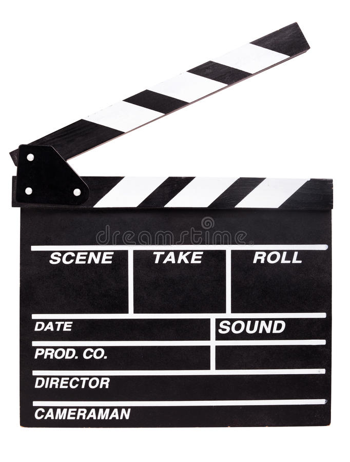 clapperboard obrazy stock