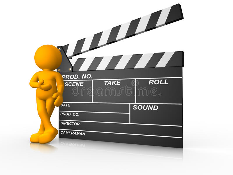 Download Clapperboard stock illustration. Image of puppet, male - 23881434