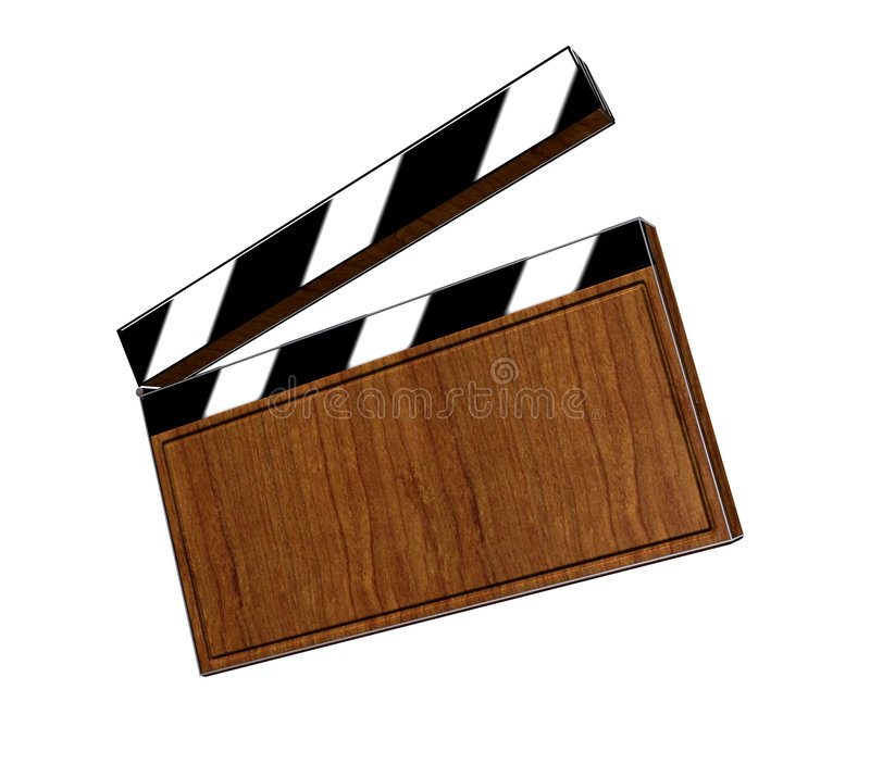 Clapperboard. 3d, clapperboard, cut, action, act, shoot, entertainment, film royalty free illustration