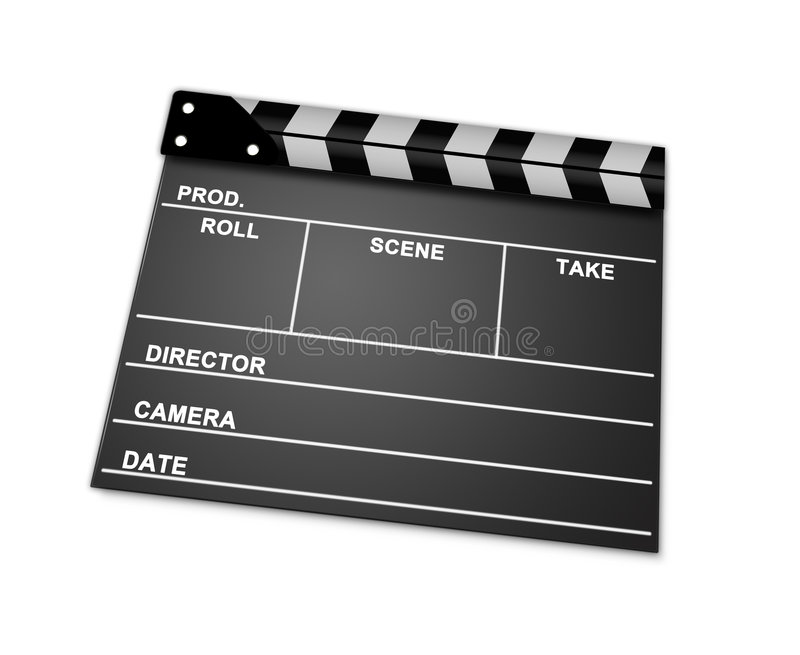 Download Clapperboard stock illustration. Image of clapboard, acting - 7546540