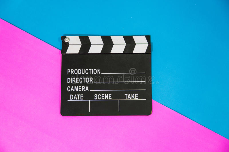 clapperboard obraz stock