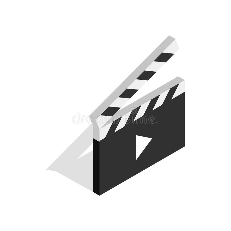 Clapperboard aberto com ícone do botão do jogo ilustração royalty free