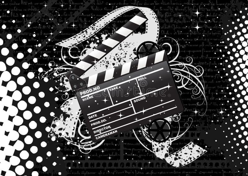 Clapperboard de la película ilustración del vector