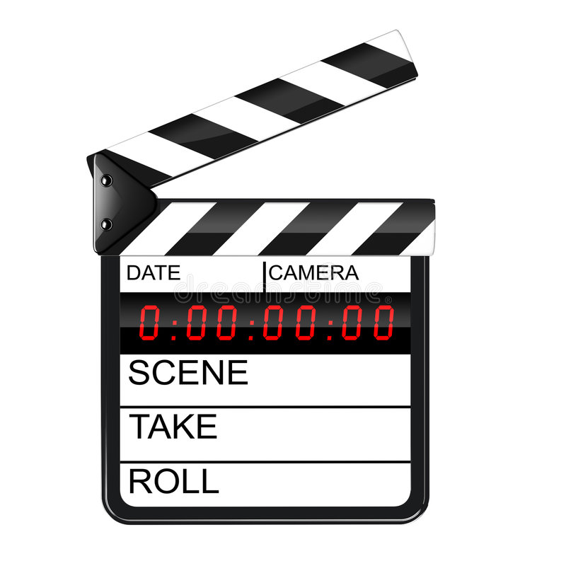 Clapperboard digital stock abbildung
