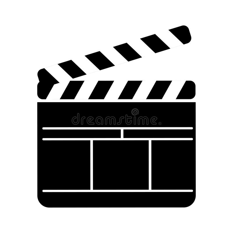 Clapperboard film isolated icon. Vector illustration design stock illustration