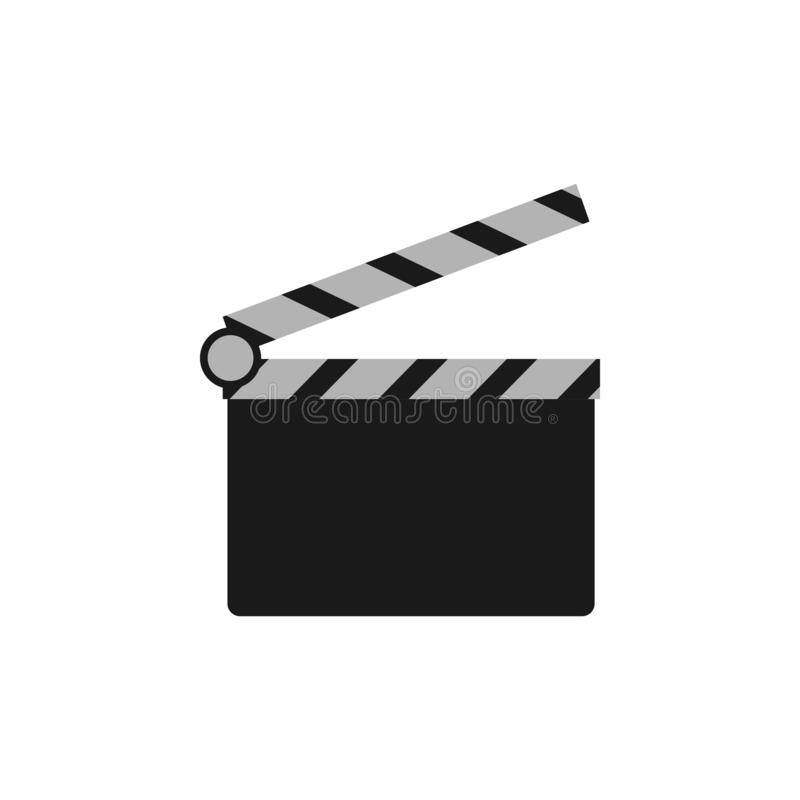Clapperboard film logo icon design template vector isolated vector illustration