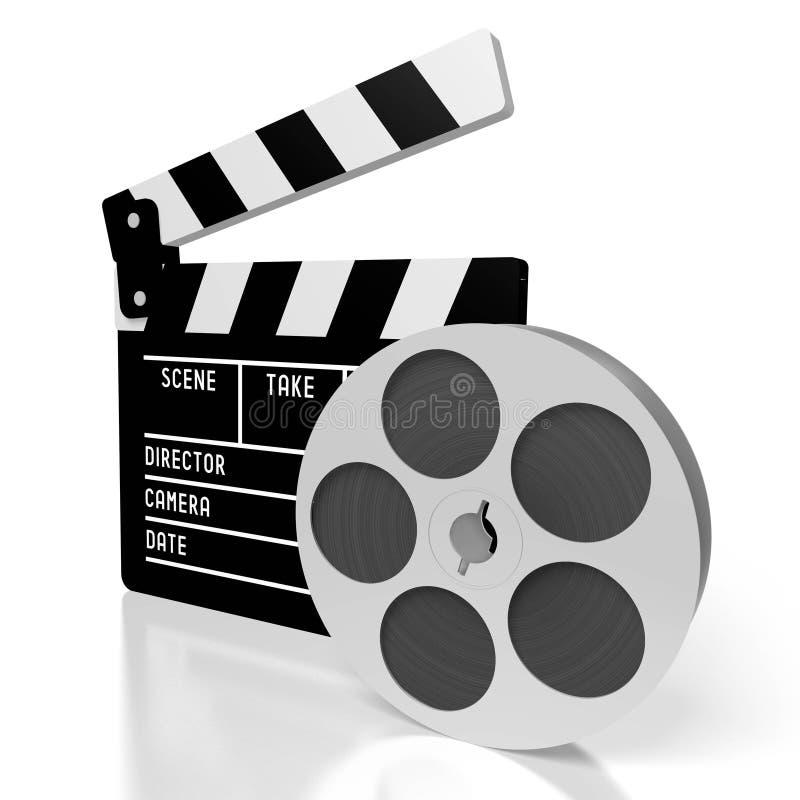 Clapperboard filmbegrepp stock illustrationer