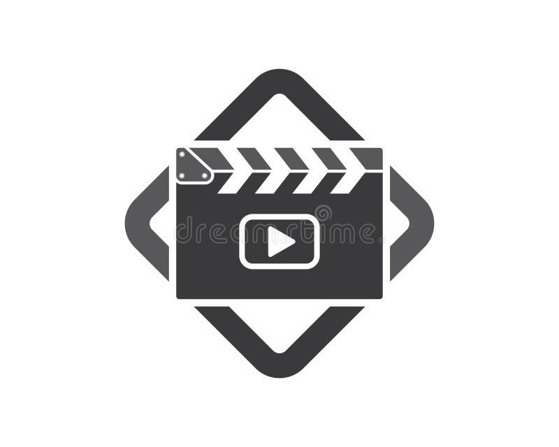 clapperboard filmpictogram van de industriefilm en van het filmfestival vectorillustratie royalty-vrije illustratie