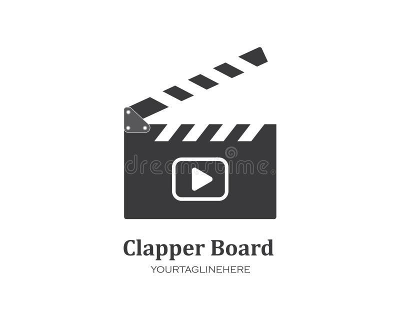 clapperboard filmpictogram van de industriefilm en van het filmfestival vectorillustratie stock illustratie