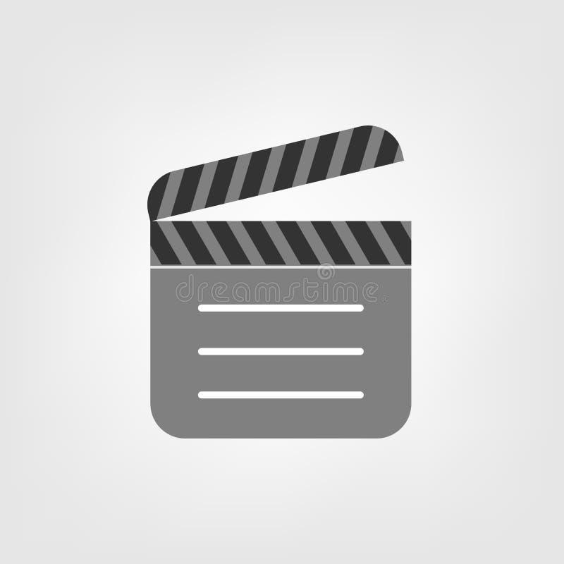 Clapperboard flat vector icon. For your web site design, logo, app, UI. illustration stock illustration