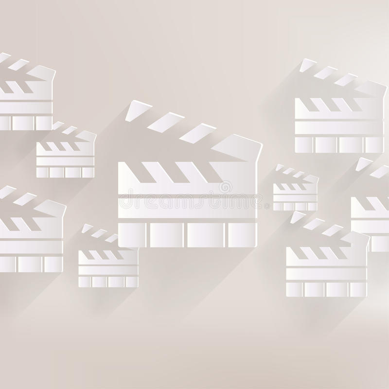 Clapperboard icon. Film , cinema, movie symbol. This is file of EPS10 format vector illustration