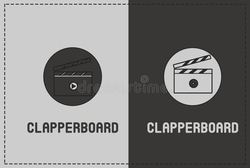 Clapperboard ilustracja zdjęcia stock