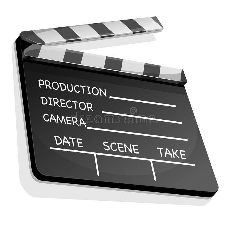 Clapperboard with an information field for shooting movies. Vector illustration of clapperboard with an information field for shooting movies vector illustration
