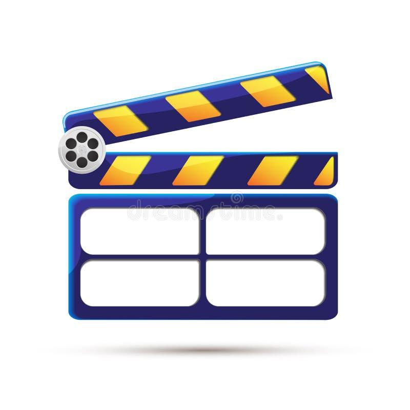 clapperboard kino ilustracja zdjęcie royalty free