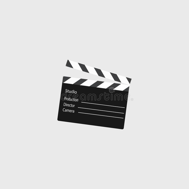Clapperboard. Movie. Symbol movie. Vector illustration. EPS 10 royalty free illustration