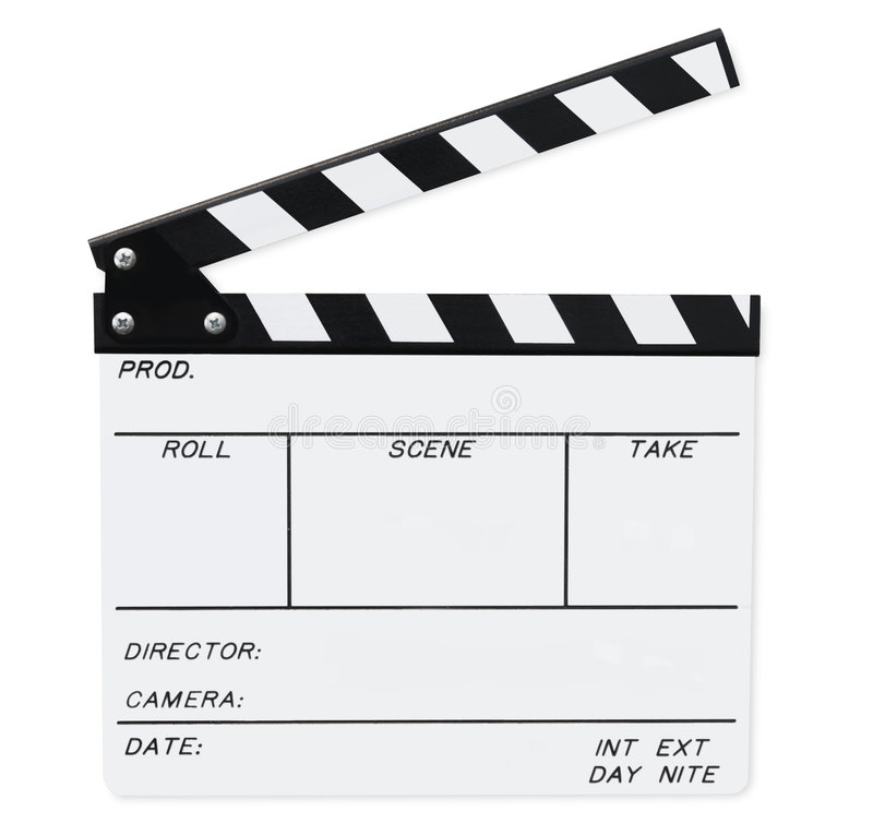 Clapperboard (with Path) stock images