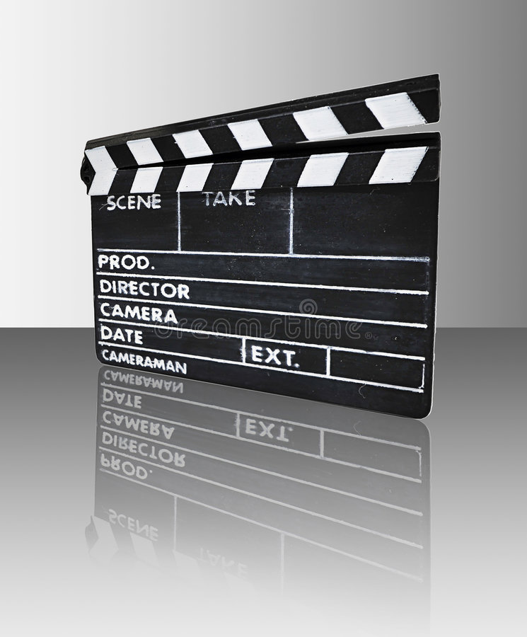 Download Clapperboard With Reflection Stock Illustration - Image: 8367469
