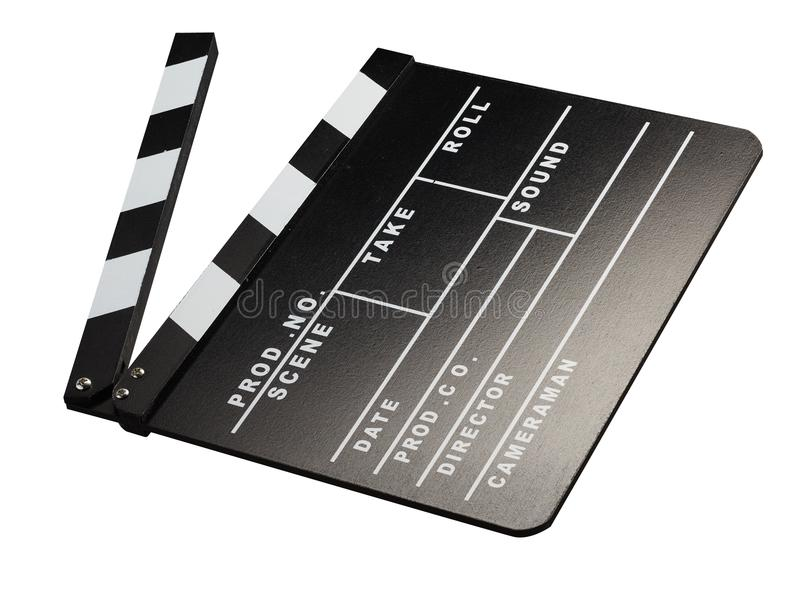 Clapperboard voor filmfotografie royalty-vrije stock afbeelding