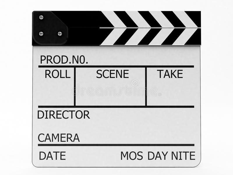 Clapperboard white stock photography
