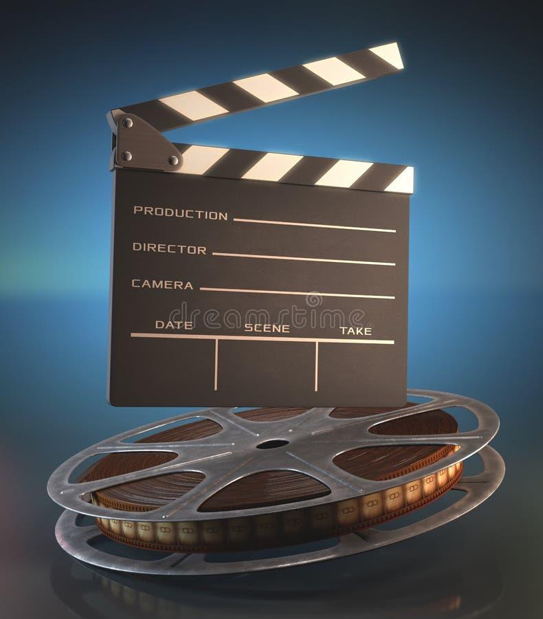 Clapperboardfilm stock illustratie