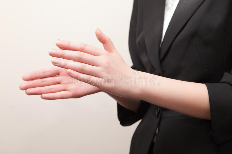Clapping royalty free stock image