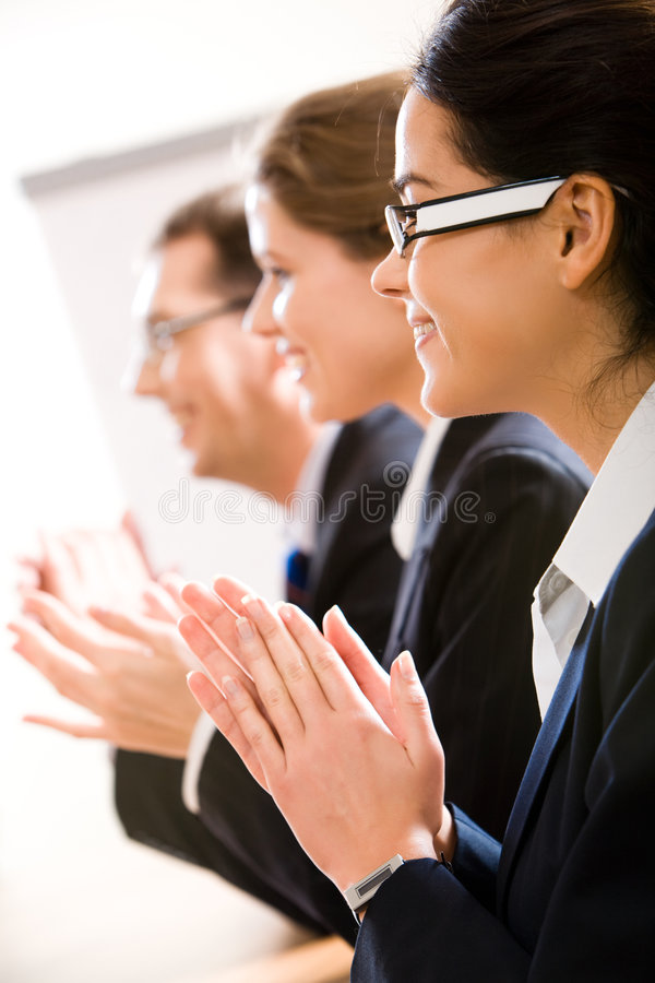 Download Clapping stock image. Image of associate, congratulating - 4501171