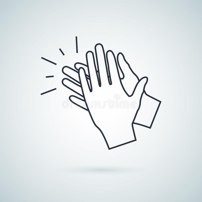 Clapping hand icon, illustration vector sign symbol royalty free illustration