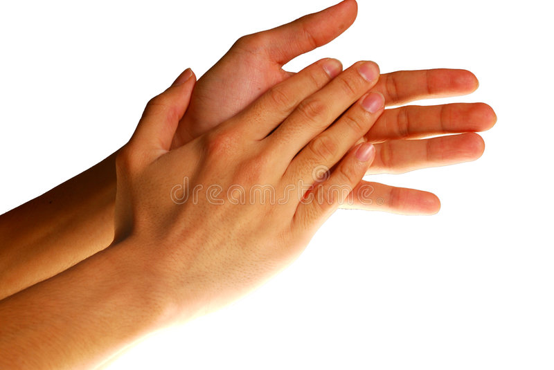 Clapping hands royalty free stock photos