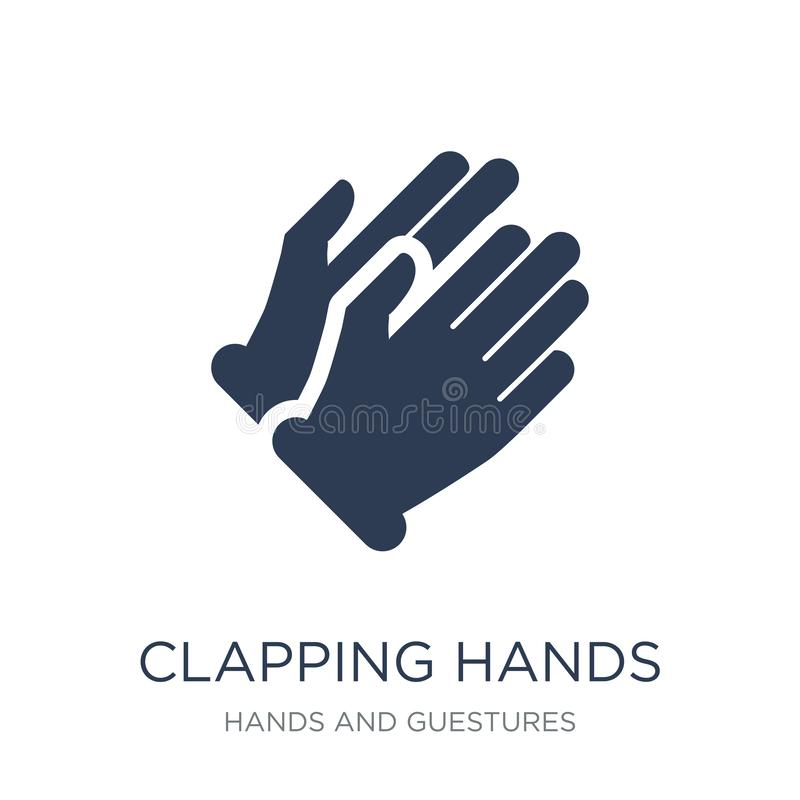 Clapping Hands icon. Trendy flat vector Clapping Hands icon on w royalty free illustration