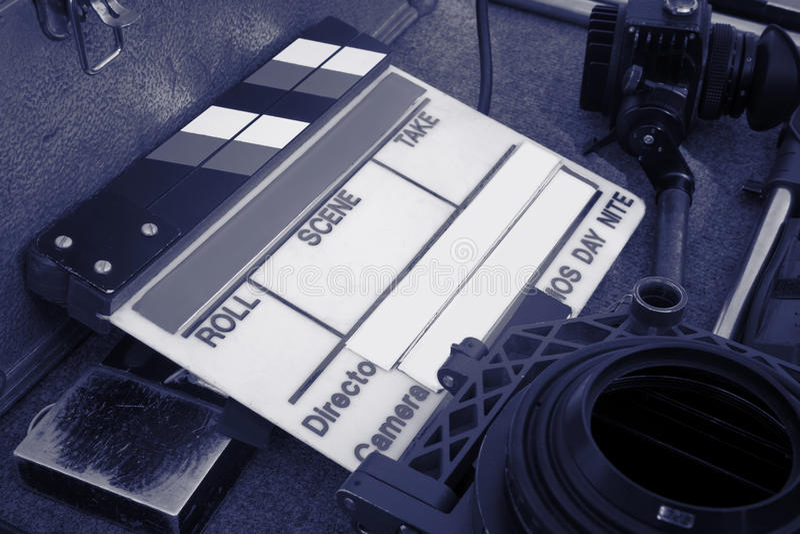 Claqueta d'ardoise de film images libres de droits
