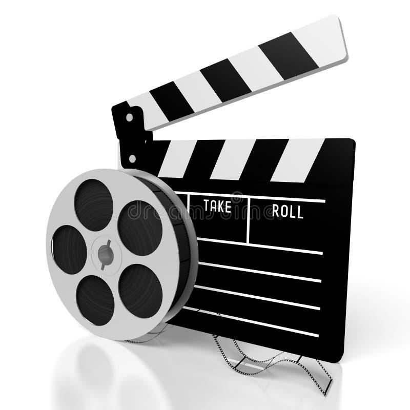 Claquette, concept de films illustration libre de droits