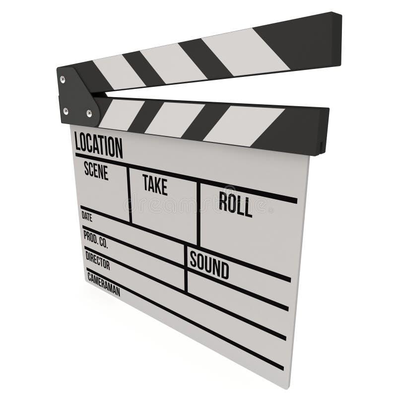 Claquette 3D de cinéma illustration stock