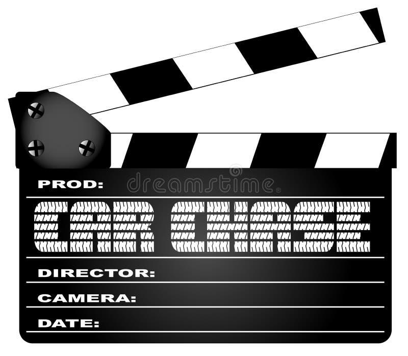 Claquette de film d'isolement par chasse de voiture illustration libre de droits