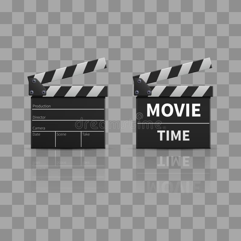 Claquette de film ou clapet de film illustration libre de droits