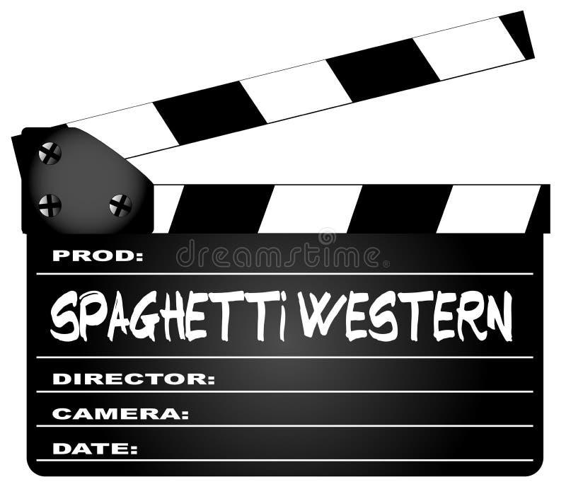 Claquette de films occidentaux de spaghetti illustration libre de droits