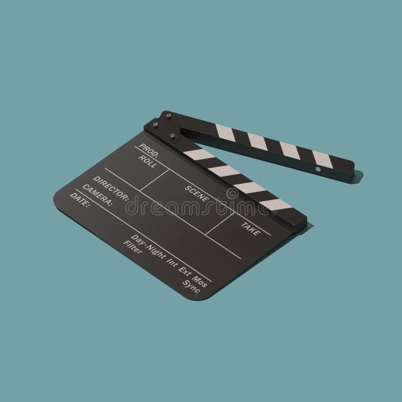 Claquette pour le cinéma et le cinéma illustration de vecteur