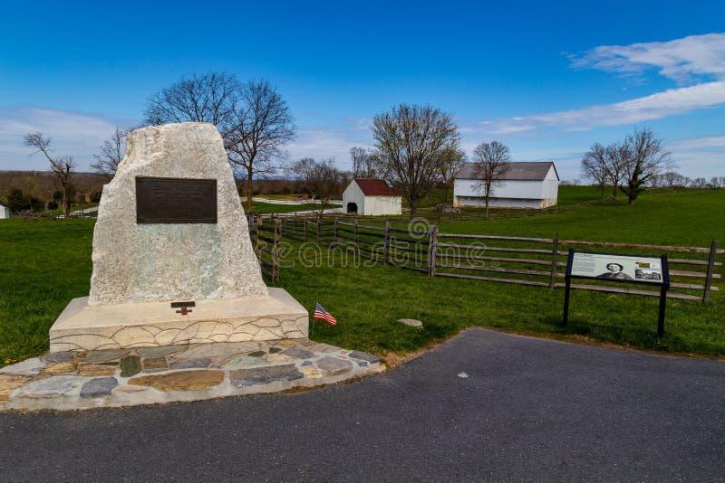 Clara Barton Monument au champ de bataille d'Antietam image libre de droits