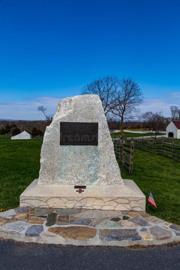 Clara Barton Monument sur le champ de bataille d'Antietam photo stock