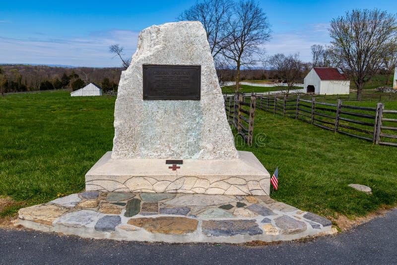 Clara Barton Monument sur le champ de bataille d'Antietam photo libre de droits