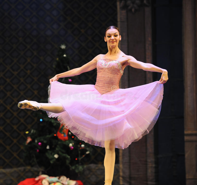 Clara is de meisje-Balletnotekraker stock foto
