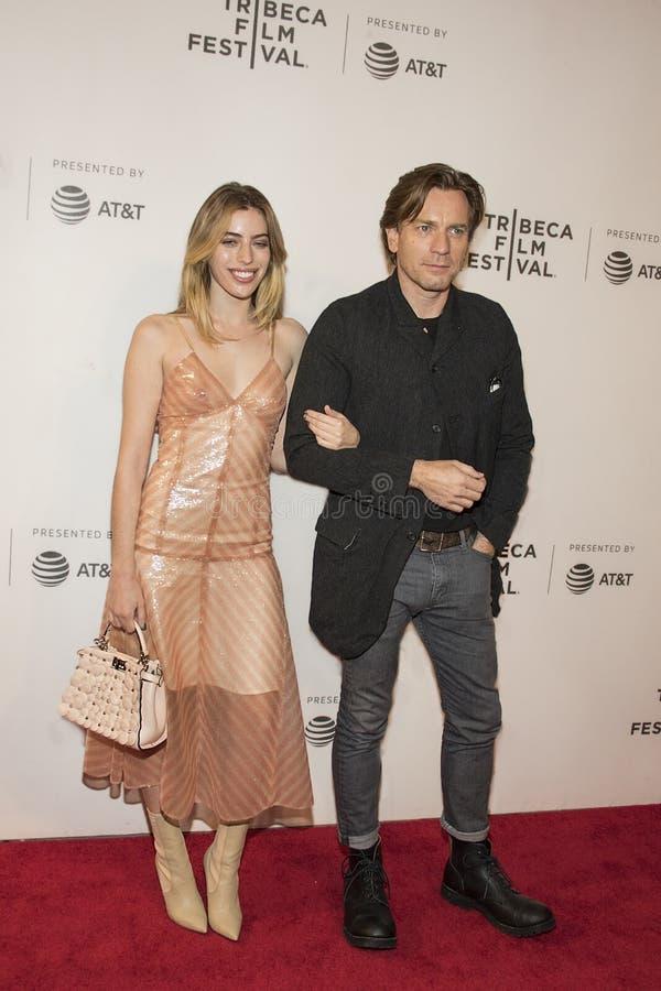 Clara Mathilda McGregor i Ewan McGregor przy 2018 Tribeca Ekranowym festiwalem fotografia royalty free