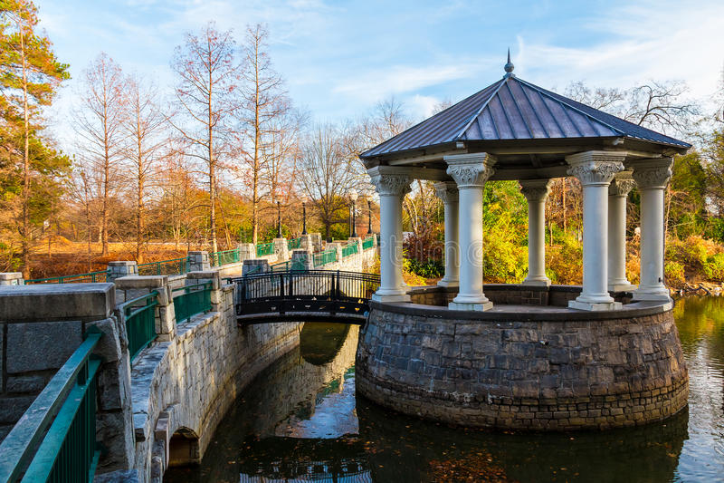 Clara Meer Gazebo en parc de Piémont, Atlanta, Etats-Unis images stock