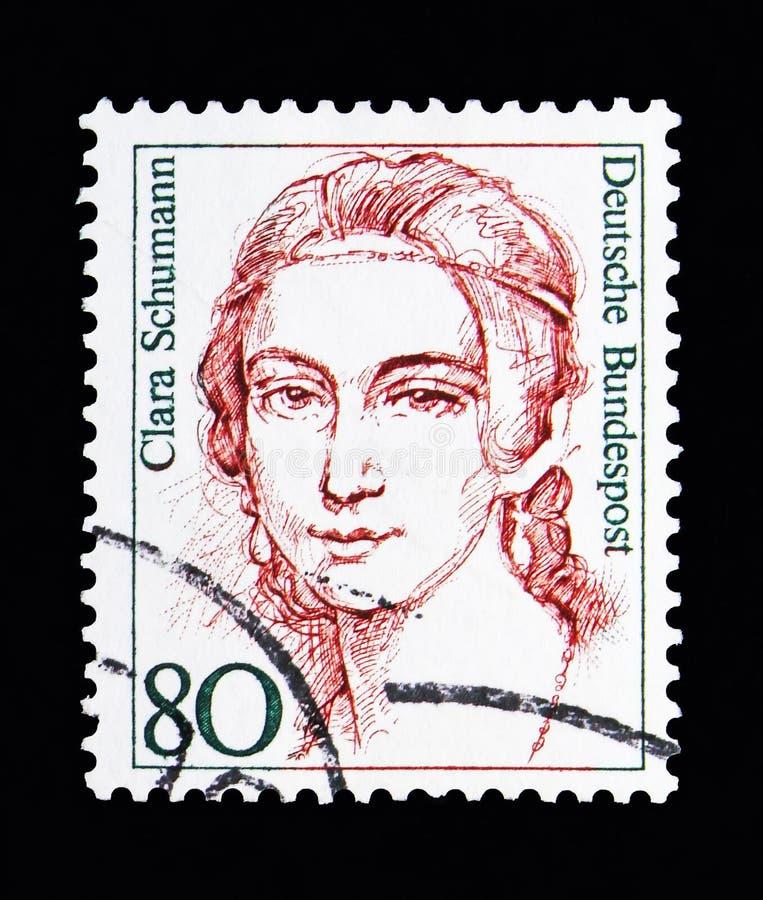 Clara Schumann (1819-1896), pianista, kobiety w Niemieckim historii serze fotografia stock