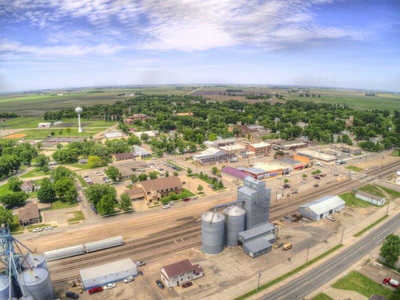 Clara skrzyżowanie jest małym Uprawia ziemię miasteczkiem w Północnym Dakota obrazy stock
