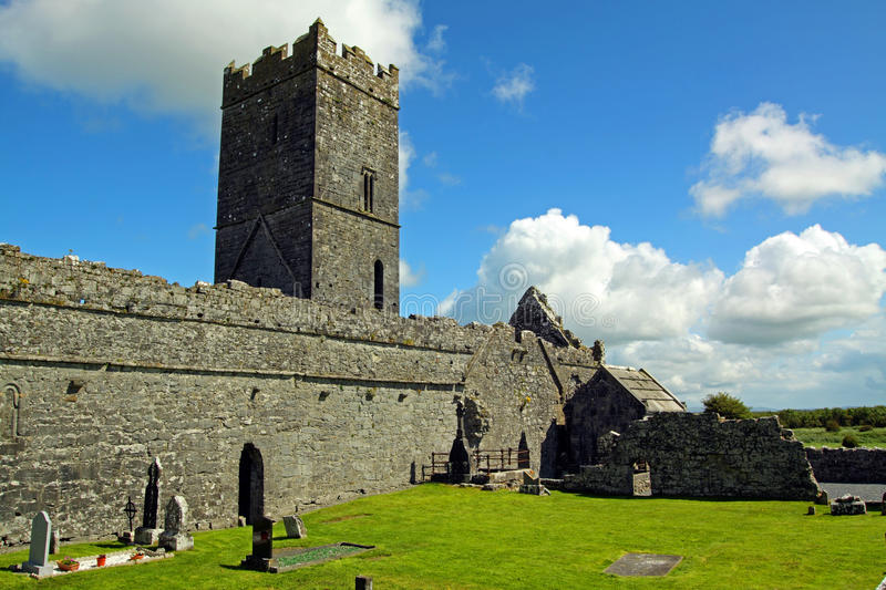 Clare Abbey Co. Clare Ireland. Clare Abbey, Ennis, Co. Clare, Ireland on a lovely sunny summers day stock photos